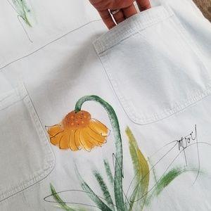 Vintage Dresses - Sunflower Handpainted Dress - small